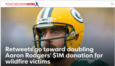 State Farm x Aaron Rodgers – #RetweetForGood